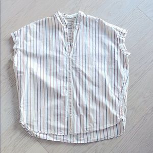 🎉 Madewell Loose Fitting Striped Button Up